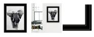 "Trendy Decor 4U Elephant Walk by andreas Lie, Ready to hang Framed Print, Black Frame, 15"" x 19"""