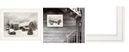 "Trendy Decor 4U Farmhouse Christmas by Lori Deiter, Ready to hang Framed Print, White Frame, 19"" x 15"""