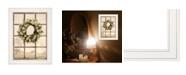 "Trendy Decor 4U Country Gazing by Lori Deiter, Ready to hang Framed Print, White Window-Style Frame, 15"" x 19"""
