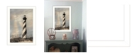 """Trendy Decor 4U Cape Hatteras Lighthouse By Lori Deiter, Printed Wall Art, Ready to hang, White Frame, 14"""" x 20"""""""