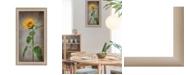 "Trendy Decor 4U Sunflower II By Lori Deiter, Printed Wall Art, Ready to hang, Beige Frame, 12"" x 21"""