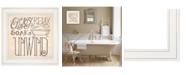 "Trendy Decor 4U Soak Relax by Deb Strain, Ready to hang Framed Print, White Frame, 15"" x 15"""
