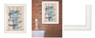 "Trendy Decor 4U Trendy Decor 4U Bathroom Humor by Debbie DeWitt, Ready to hang Framed print, White Frame, 15"" x 19"""