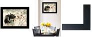 "Trendy Decor 4U The Winter Robin by Bonnie Mohr, Ready to hang Framed Print, Black Frame, 19"" x 15"""
