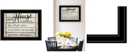 """Trendy Decor 4U Our House is Lived In by Cindy Jacobs, Ready to hang Framed Print, Black Frame, 21"""" x 15"""""""