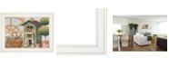 """Trendy Decor 4U Home Sweet Home by Karen Tribett, Ready to hang Framed Print, White Frame, 19"""" x 15"""""""