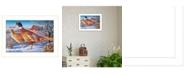 "Trendy Decor 4U Frosty Morning Ringnecks by Kim Norlien, Ready to hang Framed Print, White Frame, 20"" x 14"""