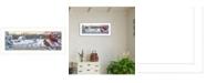 """Trendy Decor 4U White Crimson Morning by Kim Norlien, Ready to hang Framed Print, White Frame, 38"""" x 14"""""""