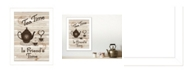 """Trendy Decor 4U Tea Time by Millwork Engineering, Ready to hang Framed Print, White Frame, 10"""" x 14"""""""