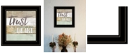 """Trendy Decor 4U Trust in the Lord by Marla Rae, Ready to hang Framed Print, Black Frame, 15"""" x 15"""""""