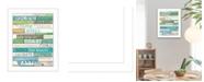 "Trendy Decor 4U Ocean Rules By Marla Rae, Printed Wall Art, Ready to hang, White Frame, 14"" x 18"""