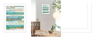 """Trendy Decor 4U Live in the Present By Marla Rae, Printed Wall Art, Ready to hang, White Frame, 14"""" x 10"""""""