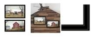 "Trendy Decor 4U Goin to Market 2-Piece Vignette by Billy Jacobs, Black Frame, 33"" x 23"""