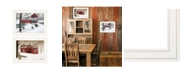 "Trendy Decor 4U Trendy Decor 4U Winter Evening 2-Piece Vignette by Billy Jacobs, White Frame, 19"" x 15"""