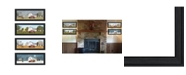 "Trendy Decor 4U Trendy Decor 4U Billy Jacobs Four Seasons Collection V 4-Piece Vignette, Black Frame, 27"" x 11"""