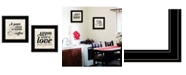 """Trendy Decor 4U All You Need is Coffee 2-Piece Vignette by SUSAn Boyer, Black Frame, 15"""" x 15"""""""