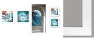 "Trendy Decor 4U Mermaids 2-Piece Vignette by Bluebird Barn, White Frame, 15"" x 15"""
