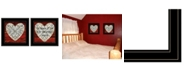 """Trendy Decor 4U Love is Patient / Measure 2-Piece Vignette by Cindy Jacobs, Black Frame, 15"""" x 15"""""""