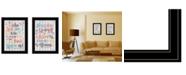 "Trendy Decor 4U Who You Think 2-Piece Vignette by Susan Ball, Black Frame, 15"" x 19"""