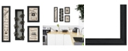 "Trendy Decor 4U Trendy Decor 4U Kitchen Collection VII 4-Piece Vignette with 7-Peg Mug Rack by Millwork Engineering, Black Frame, 11"" x 33"""