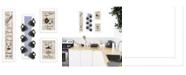 "Trendy Decor 4U Kitchen Collection V 4-Piece Vignette with 7-Peg Mug Rack by Millwork Engineering, White Frame, 32"" x 10"""