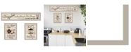 """Trendy Decor 4U Kitchen Friendship Collection III 3-Piece Vignette by Millwork Engineering, Sand Frame, 33"""" x 10"""""""