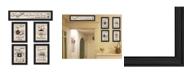 """Trendy Decor 4U Kitchen Friendship Collection II 5-Piece Vignette by Millwork Engineering, Black Frame, 33"""" x 11"""""""