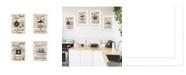 """Trendy Decor 4U Trendy Decor 4U Friendship Collection 4-Piece Vignette by Millwork Engineering, White Frame, 10"""" x 14"""""""