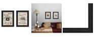 """Trendy Decor 4U Trendy Decor 4U Friendship Journey 2-Piece Vignette by Millwork Engineering, Black Frame, 11"""" x 15"""""""