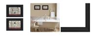 "Trendy Decor 4U Hot Bath 2-Piece Vignette by Linda Spivey, Black Frame, 14"" x 10"""