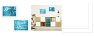"""Trendy Decor 4U Beach Life Collection By Cindy Jacobs, Printed Wall Art, Ready to hang, White Frame, 18"""" x 14"""""""