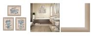 "Trendy Decor 4U Bathroom Humor Collection By Debbie DeWitt, Printed Wall Art, Ready to hang, Beige Frame, 45"" x 19"""