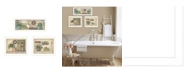 """Trendy Decor 4U Garden Bath Collection By Pam Britton, Printed Wall Art, Ready to hang, White Frame, 40"""" x 14"""""""