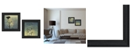 """Trendy Decor 4U Glass Jars Collection By Robin-Lee Vieira, Printed Wall Art, Ready to hang, Black Frame, 28"""" x 14"""""""