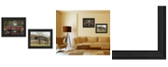 """Trendy Decor 4U Bridges Collection By Billy Jacobs, Printed Wall Art, Ready to hang, Black Frame, 18"""" x 14"""""""