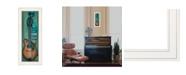 "Trendy Decor 4U I Will Sing by Tonya Crawford, Ready to hang Framed print, White Frame, 9"" x 21"""