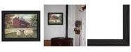 "Trendy Decor 4U Hancock Sheep By Pam Britton, Printed Wall Art, Ready to hang, Black Frame, 19"" x 15"""