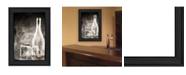 "Trendy Decor 4U Moody Gray Glassware Still Life by Bluebird Barn, Ready to hang Framed Print, Black Frame, 15"" x 19"""