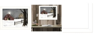 """Trendy Decor 4U Trendy Decor 4U Light in the Stable by Billy Jacobs, Ready to hang Framed Print, White Frame, 18"""" x 14"""""""