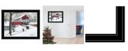 "Trendy Decor 4U Crisp Winter Evening by Billy Jacobs, Ready to hang Framed Print, Black Frame, 27"" x 21"""