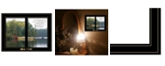 """Trendy Decor 4U To Everything There is a Season by Kim Norlien, Ready to hang Framed Print, Black Window-Style Frame, 19"""" x 15"""""""