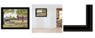 """Trendy Decor 4U The Old Spring House by Billy Jacobs, Ready to hang Framed Print, Black Frame, 27"""" x 21"""""""