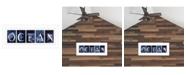 "Trendy Decor 4U Ocean By Robin-Lee Vieira, Printed Wall Art, Ready to hang, White Frame, 20"" x 8"""