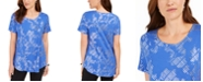 JM Collection Short-Sleeve Metallic-Print T-Shirt, Created For Macy's