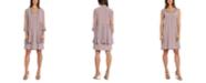 R & M Richards Glitter Jacket & Necklace Dress
