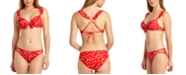 California Waves Ruffle Underwire Push-Up Bikini Top, Available in D/DD & Hipster Bottoms, Created for Macy's