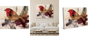 "Creative Gallery Expressionist Carmine Robin Bird 24"" x 20"" Canvas Wall Art Print"
