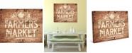 "Creative Gallery Rustic Farmer's Market Sign 36"" x 24"" Canvas Wall Art Print"