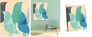 "Creative Gallery Retro Bird Caravan in Blue 20"" x 16"" Canvas Wall Art Print"