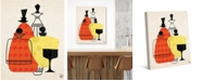 "Creative Gallery Retro Bottles in Orange Yellow 36"" x 24"" Canvas Wall Art Print"